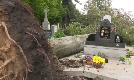 Vichřice poškodila 70 hrobů
