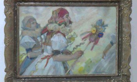 Výstavu uměleckých děl oživily hanácké kroje