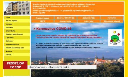 O koronaviru informuje speciální linka hygieniků