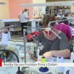 Roušky pro město Prostějov se šijí v Dubanech