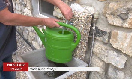 Voda na Prostějovsku je levnější