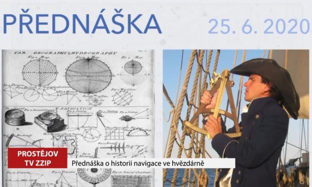 Přednáška o historii navigace ve hvězdárně