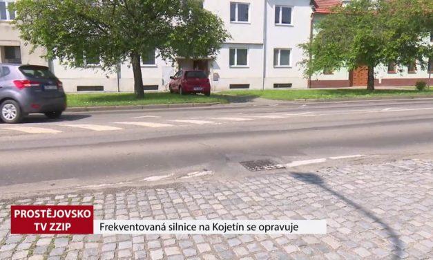 Frekventovaná silnice na Kojetín se opravuje