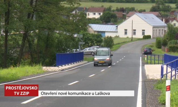 Po opravené silnici u Laškova už jezdí řidiči