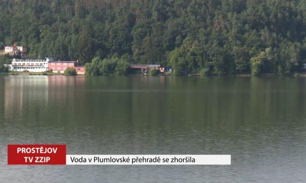Kvalita vody v Plumlovské přehradě se zhoršila