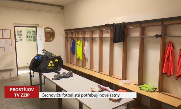 Čechovičtí fotbalisté potřebují nové šatny