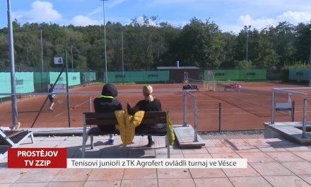 Tenisoví junioři z TK Agrofert ovládli turnaj ve Vésce