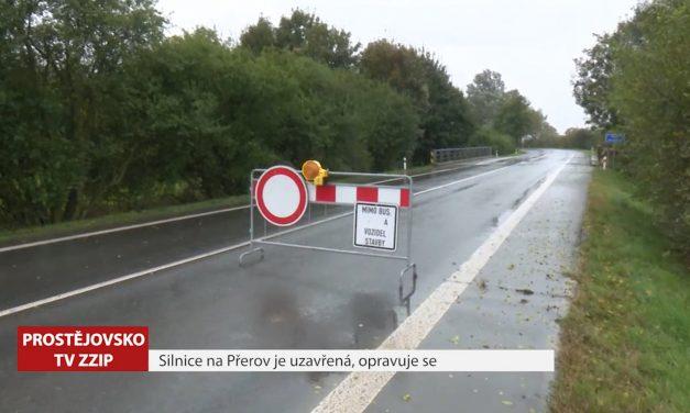 Silnice na Přerov je uzavřena, opravuje se