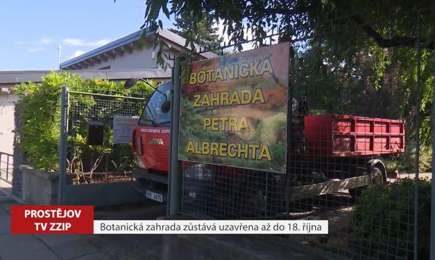 Botanická zahrada zůstane zavřená až do 18. října