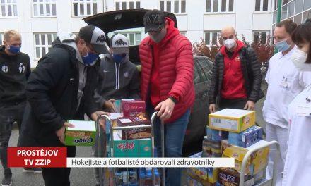Prostějovští hokejisté a fotbalisté podpořili zdravotníky
