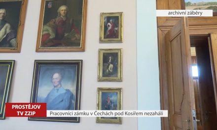 Pracovníci zámku v Čechách pod Kosířem nezahálí