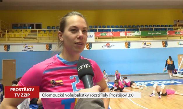 Olomoucké volejbalistky rozstřílely Prostějov