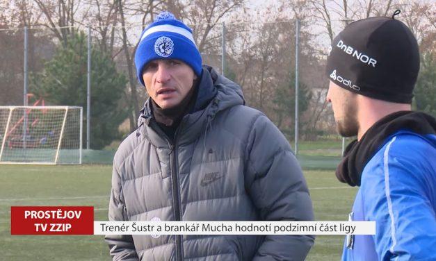 Trenér Šustr a brankář Mucha hodnotí podzimní část ligy