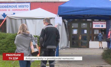 Antigenní testy i v prostějovské nemocnici