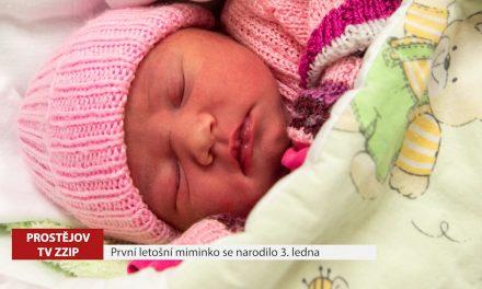 První letošní prostějovské miminko se narodilo 3 ledna