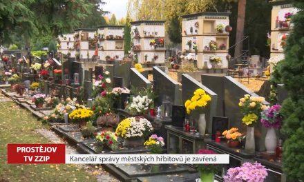 Kancelář správy městských hřbitovů je zavřená