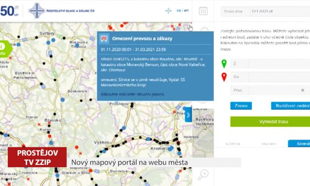 Nový mapový portál na webu města