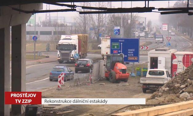 Začíná rekonstrukce dálniční estakády
