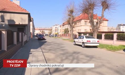 Opravy prostějovských chodníků pokračují