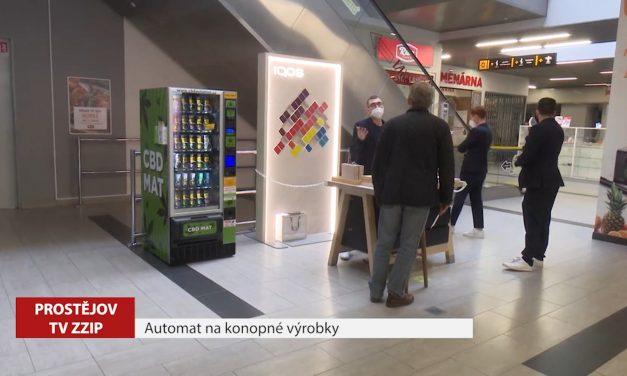 V Prostějově je první automat na konopné výrobky