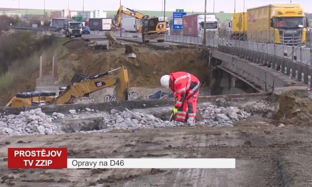 Provoz na dálnici D46 komplikují uzavírky