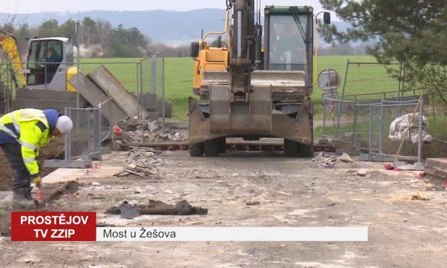 Most u Žešova se začal rekonstruovat