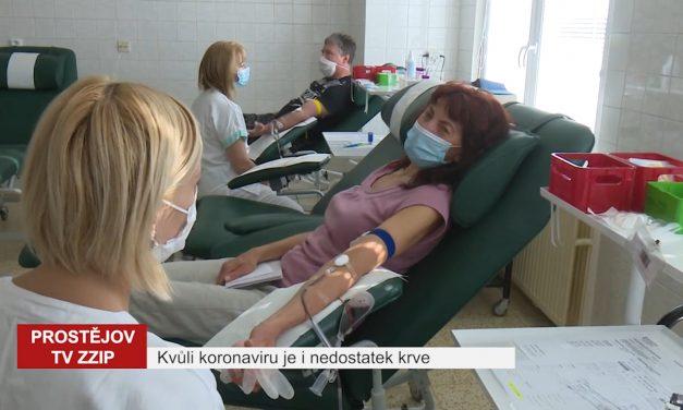 Kvůli koronaviru je i nedostatek krve