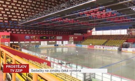 Sedačky na zimním stadionu čeká výměna
