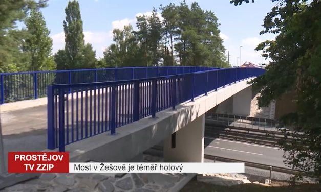 Most vŽešově je téměř hotový