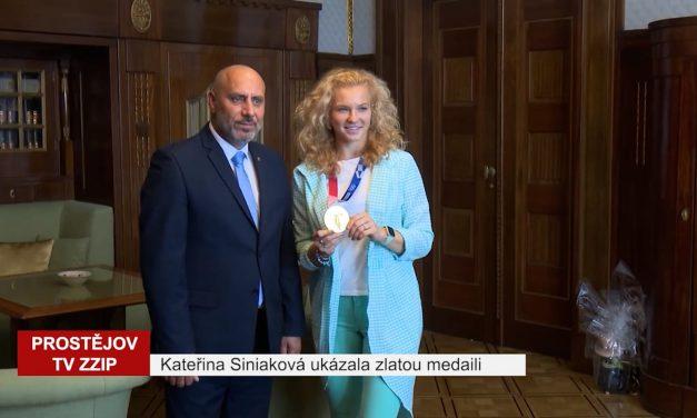 Kateřina Siniaková na prostějovské radnici