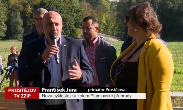 Nová cyklostezka kolem Plumlovské přehrady je otevřena